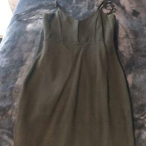 Black mini dress tight to body worn once
